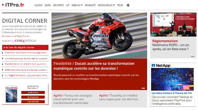 A la Une du Digital Corner sur le Site www.iTPro.fr